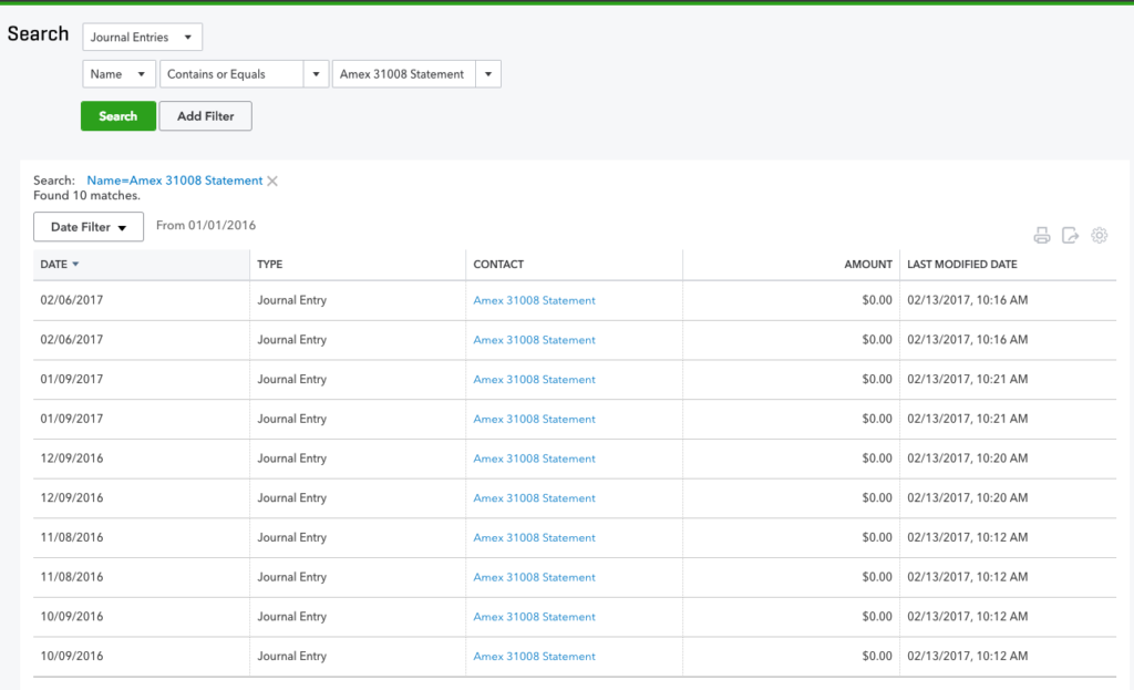 how to find recent transactions in quickbooks