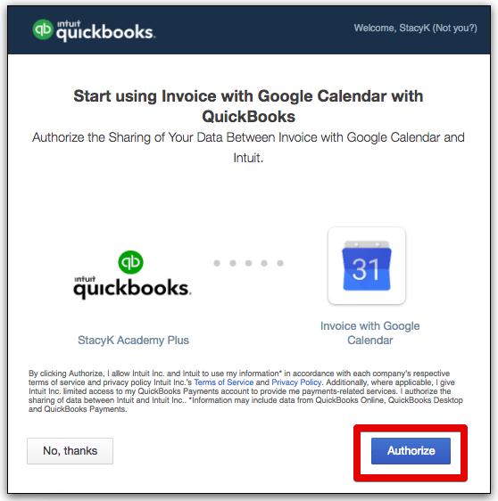 Invoice With Google Calendar App StacyK - Intuit invoicing online