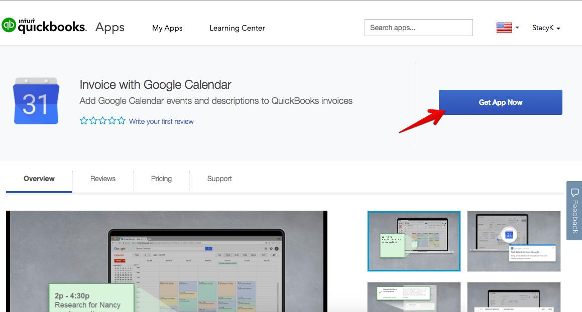 invoice with google calendar get app now