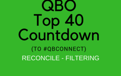 QBO Top 40 Countdown (to #QBConnect) Reconcile – Filtering