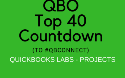 QBO TOP 40 COUNTDOWN (to #QBConnect) QuickBooks Labs – Projects