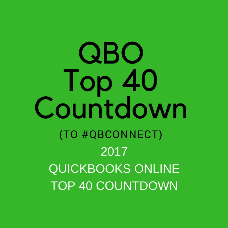 QBO TOP 40 COUNTDOWN to #QBConnect 2017 Combined list!