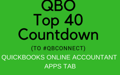 QBO TOP 40 COUNTDOWN (to #QBConnect) QuickBooks Online Accountant Apps Tab
