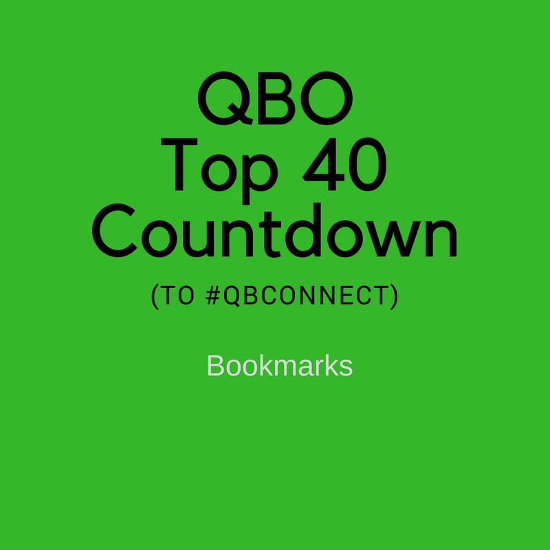 QBO Top 40 Countdown (to #QBConnect) – Bookmarks