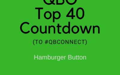 QBO Top 40 Countdown (to #QBConnect) – Hamburger Button