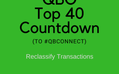 QBO Top 40 Countdown (to #QBConnect) – Reclassify transactions