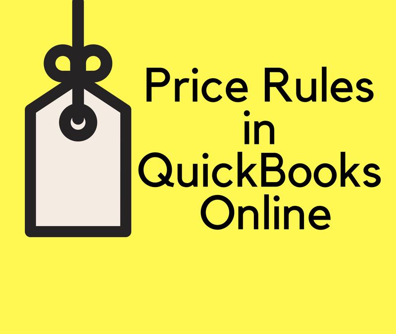 Price Rules in QuickBooks Online