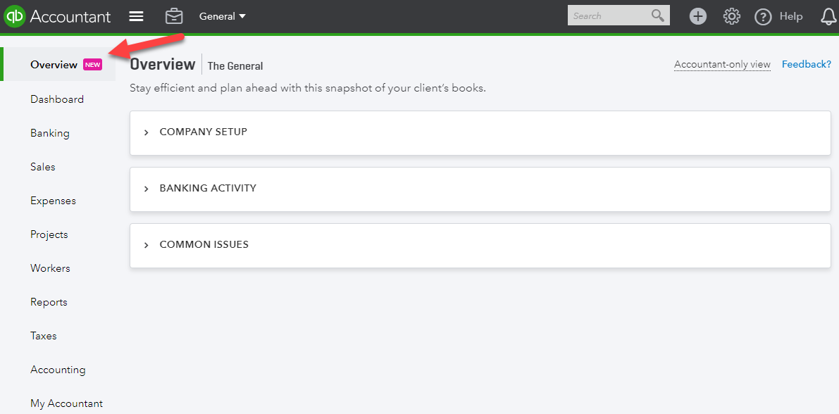 QuickBooks Online Accountant Overview Tab - StacyK